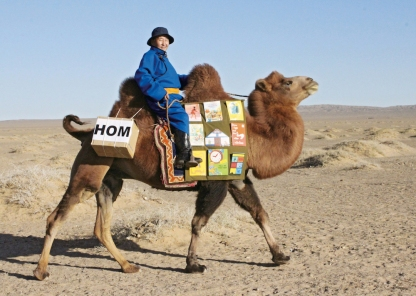 Library Camel in Mongolia
