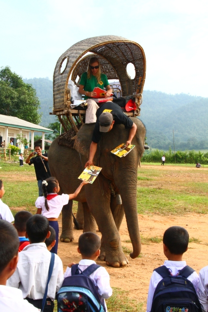 Library Elephant in Laos